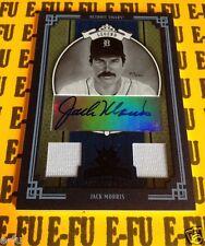 2005 Diamond Kings JACK MORRIS Autograph Dual Tigers Game Jersey Auto # 20/25