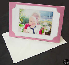 25 Baby Pink Blank Photo Cards and 25 white envelopes