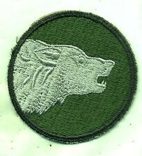 US Army 104th Infantry Division Timber Wolf Patch Faceing Right Cut Edge