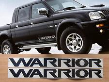 Mitsubishi L200 Warrior side door decals - 2x replacement stickers
