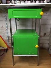 Green Vintage Hospital Bedside Cabinet Made In Poland Industrial Metal Cupboard