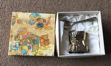 VINTAGE SILVER PLATED BABY'S HUMPTY DUMPTY EGG CUP & SPOON In Original Box Rare