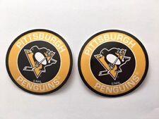 2x Pittsburgh Penguins Round Logo Car Bumper Laptop Phone Vinyl Sticker Decal