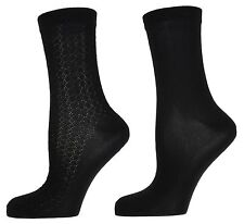 Zest 2 Pack Black Microfibre Ankle Socks 4-7