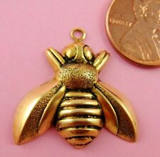 Bee W/Ring - 2 Pc(s) Retro Design Ant Brass Large Flying