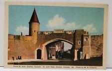 Canada Porte St. Jean Quebec  St John Gate Colored Photo Postcard A8