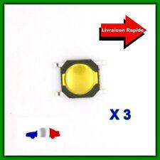 3 Boutons Poussoirs Switch pour Télécommande Coque Plip Carte Renault, Mini Coop