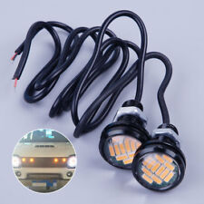 2pcs 23mm 12V Amber LED Eagle Eye Light Lamp DRL for Jeep TJ CJ JK YJ Wrangler