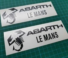 Fiat 500 / 595 / 695 Abarth  wing panel Decals / Stickers 145mm