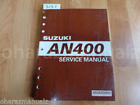 2003 SUZUKI AN400 Service Manual OEM