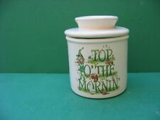 IRISH TOP OF THE MORNIN'   CERAMIC BUTTER CROCK   MADE  IN  USA  FREE SHIPPING