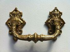 Außergewöhnlich schöner & schwerer antiker feuervergoldeter Griff mit Patina