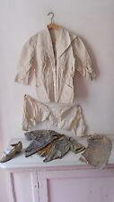 LOT VETEMENT MUSEUM FEMME MONARCHIE BELLE EPOQUE WOMAN OLD OUTFIT XVIII XIXe COL
