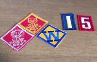 Vintage Cub Scout Program Patches BSA Lion Webelos W Bear Numbers Unused Lot 5