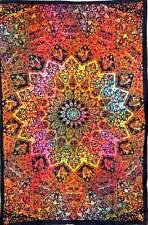 Psychedelic Star Mandala Multi Dyed Twin Wall Hanging Hippie Decor Wall Tapstery