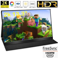 2K 13.3 inch Screen Monitor HDMI IPS Display HDR for PS4 Raspberry Pi NEW