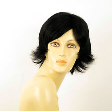 wig for women 100% natural hair black ref JENNA 1B PERUK
