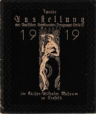 Deutscher Werkbund catálogo de exposición 1919 Diseño Modernista Jugendstil DWB
