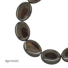 10PC Mahogany Obsidian Flat Oval Beads 15x20mm #89055