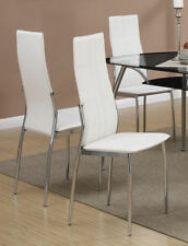 f1cf83bc7210 Poundex F1278 White Leatherette Dining Chair With Metal Frame Set Of 2