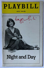 MAGGIE SMITH signed NIGHT AND DAY Playbill January 1980