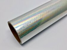 "24"" X 10'ft - Silver Glitter Holographic Craft & Hobby Cutting Vinyl Film"