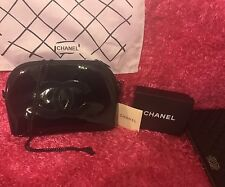 CHANEL VIP Gift Black Cross Body Clutch Bag With  Removable Chain
