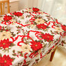 Christmas Tablecloth Rectangle Table Cloth Cover Xmas Dining Room Party Decor