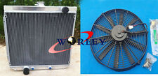 for Ford XY XW 302 GS GT 351 cleveland 1969-1972 70 AT/MT Aluminum Radiator+FAN