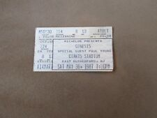 Genesis 1987 ticket stub Giants Staduim
