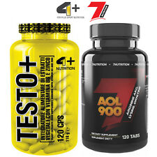 TESTO 120 Caps + AOL 120 Tabs Testosterone Booster & Hormone Release Anabolic
