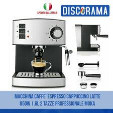 MACCHINA CAFFE' ESPRESSO CAPPUCCINO LATTE 850W 1.6L 2 TAZZE PROFESSIONALE MOKA