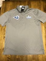 SUPER BOWL LIII MEDIA NIGHT SPORT-TEK LOS ANGELES RAMS POLO SHIRT NEW  X-LARGE