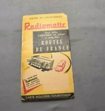 Ancienne Carte Routière RADIOMATIC PIANISTOR 1958