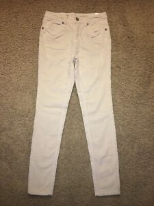 Girl's Justice Cream Colored Thin Corduroy Jeans ~ size 14 Regular