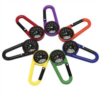 Portable Keychain Compass Hiking Carabiner Compass Outdoor Camping Ring Comp Nk