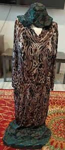 V I T A Ladies Hooded Stretchy Dress elasticated waist One size fit chest 36Rins