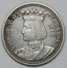 1893 Isabella Quarter Dollar Silver Coin Lot # MZ 4651