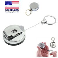 Steel Wire Rope Elastic Key Chain Recoils Retractable Anti Lost Secure Keychain
