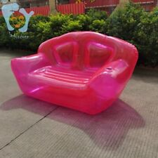 Double Person Inflatable Clear Pink Sofa Lazy Bubble Air Couchs Blow Up Lounge