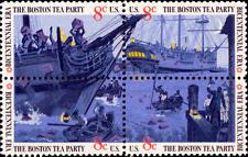 1973 8c Boston Tea Party, Block of 4 Scott 1480-83 Mint F/VF NH
