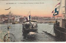 MARSEILLE vieux-port traversée du bâteau-mouche timbrée 1906