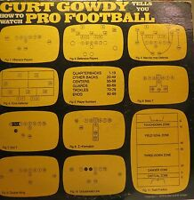 CURT GOWDY Tells You How To Watch PRO FOOTBALL NFL ORIG 1972 VINYL RECORD