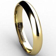 Markenlose Echte Edelmetall-Ringe ohne Steine im Wedding-Stil aus Gelbgold