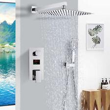 Chrom Duschsystem Unterputz Set Duscharmatur mit 200 x 200 Regen Kopfbrause