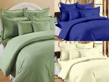 Solid Pattern Egyptian Cotton Flat Bed Sheets With 2 Pillow Covers