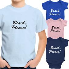 Toddler Kids Tee T-Shirt Infant Baby Bodysuit Romper Gift Print Beach Please