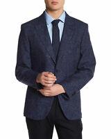 TailorByrd Mens Slim 'Officina' Slim Fit Textured Sportcoat 46 Regular Navy