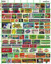 5055 DAVE'S DECALS HO VINTAGE SMALL ADVERTISING SIGNS ASSORTED 30 40'S 50'S