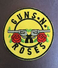 GUNS N ROSES  ☆ IRON / SEW ON PATCH. Concert Hard Rock Band 90's Music